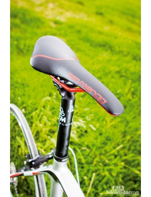The Concor's high rear end offers good support for a climbing tuck
