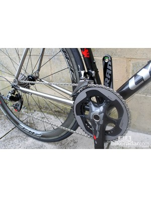 The new SRAM Red groupset filled much of our demo bike