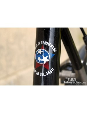 No mistaking where this Lynskey frame was made