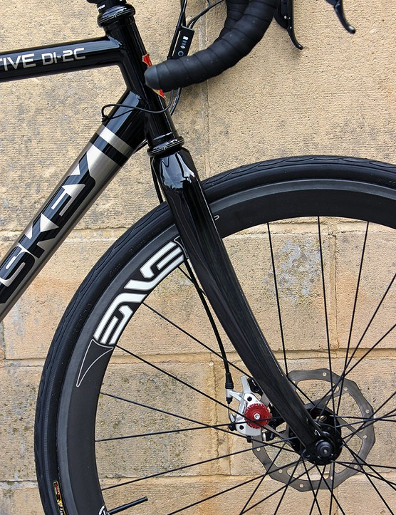 The Lynskey Sportive has more relaxed gemetry for all-day riding