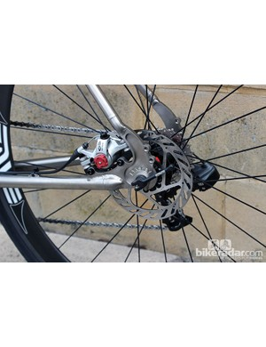 Disc brakes are currently mechanical Avid BB7, but Lynskey are looking to use SRAM's hydraulic system when it's released