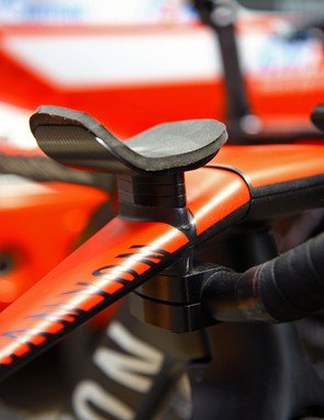 Menchov's low handlebar setup requires the extensions to be mounted on the bottom of the base bar