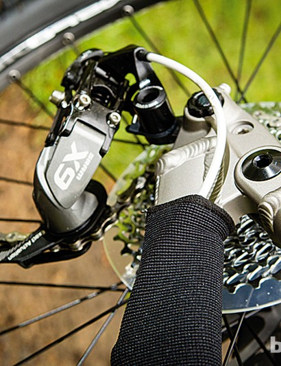SRAM's X9 rear mech takes care of shifting duties