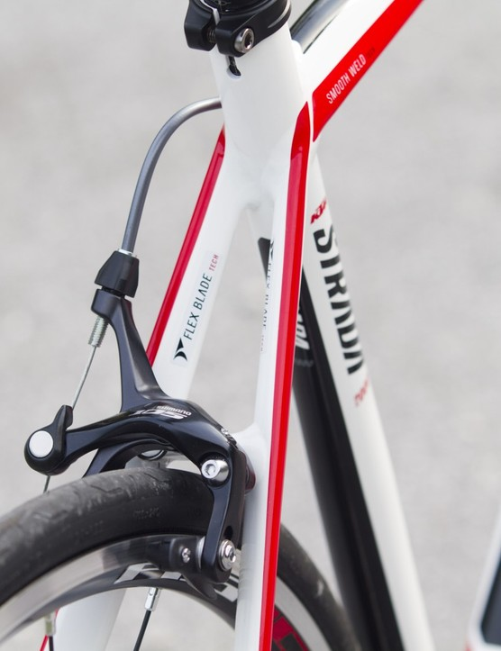 Newly designed 'flex plate technology' rear seat stays provide comfort without sideways flex on the Strada