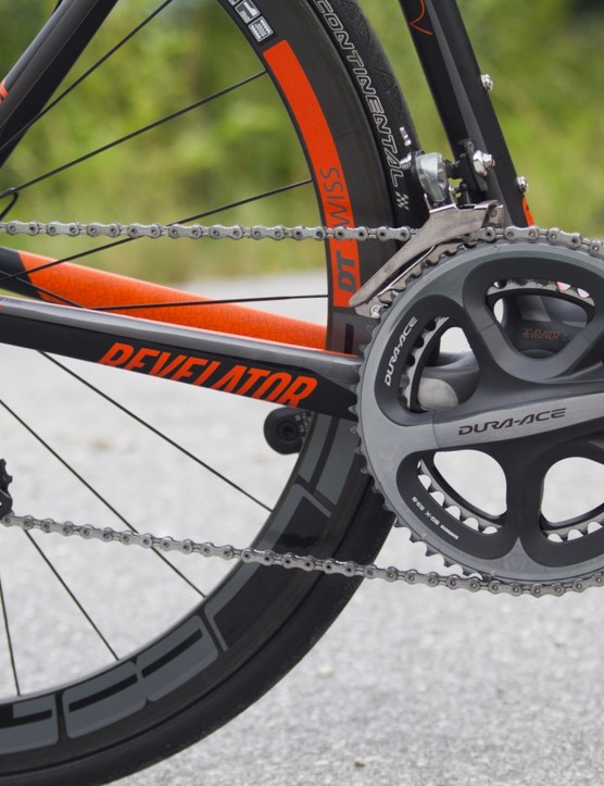 The Revelator Prime, true to its name, boasts the forthcoming 11-speed Dura-Ace