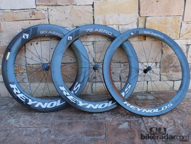 All of Reynolds wheels feature carbon brake tracks, including this new Aero line