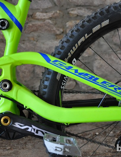 The 2013 bike gets a single-piece swing arm that's approximately 30 grams heavier than last year's