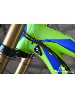 Integrated fork bumpers should keep damage in check when things get a little out of control