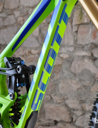 With Brendan Fairclough's ability to lay it flat, it's no wonder Scott placed a logo on the bottom of the down tube