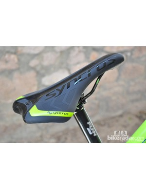 Scott provide a complete Syncros saddle on the Gambler, but chances are you'll only use the edge