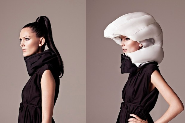 Swedish design firm, Hövding, have built an inflatable helmet