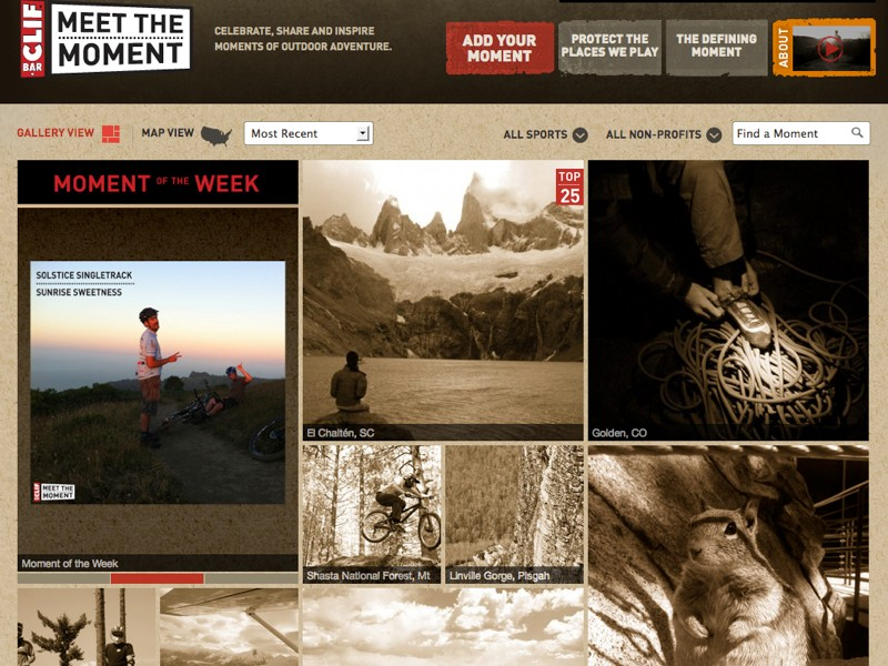 Upload a photo with a caption, and Clif will give $5 to IMBA or another outdoor recreation protection group