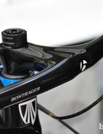 A prototype Bontrager composite bar/stem found on U23 National Champion Russell Finsterwald's Trek Superfly.