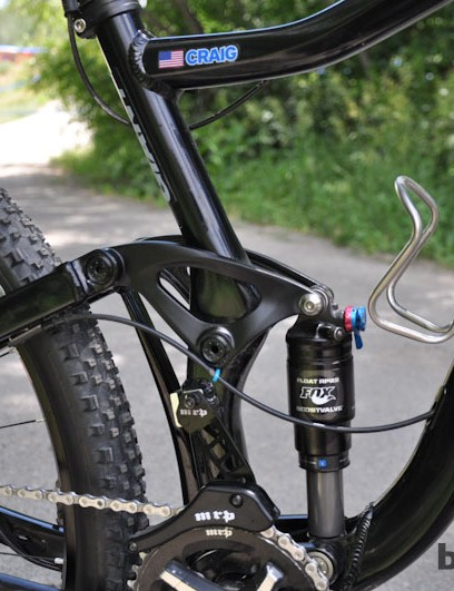 The prototype Trance X 29er Adam Craig won on has a direct-mount front derailleur interface, though he opted for his usual 1x setup