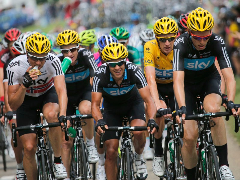 All for one, one for all. Team Sky wants to win the Tour de France, not try to put as many riders on the podium as possible