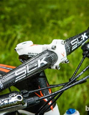 FSA carbon SL-K flat bars keep the position low but the speed high on the Team