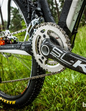 More FSA SL-K carbon on the Team roster, in the shape of the twin ring BB30 chainset