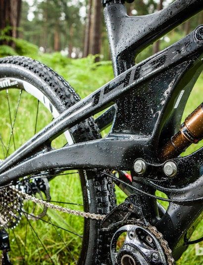 The proto 146 X1 had a 2012 RP23 damper, but stock bikes will get the latest Kashima-coated Fox Factory CTD rear shock