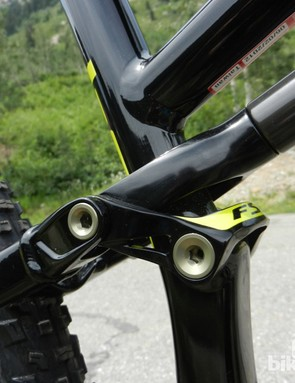 The new concentric link on the Camber bikes should reduce frame weight and boost stiffness