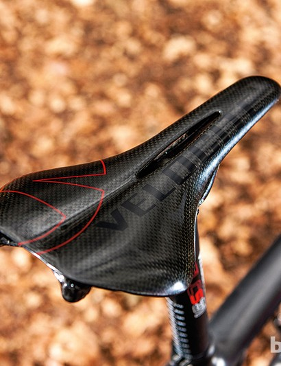 Velocite's own carbon saddle is stiff but comfier than it looks