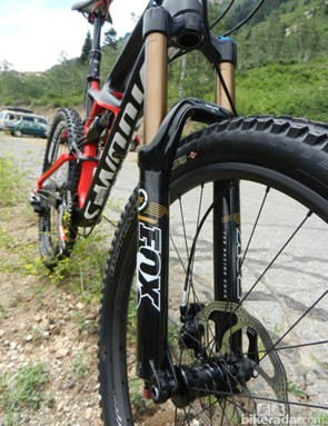 The Fox 34 TALAS CTD fork has Kashima-coated stanchions