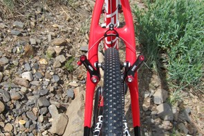 The Crux frames offer good mud clearance in the canti option