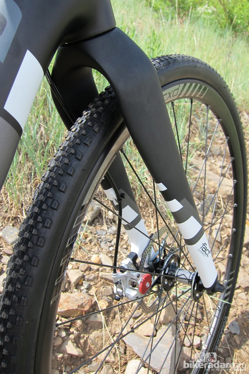 The disc fork is all new and claimed to weight around 500g