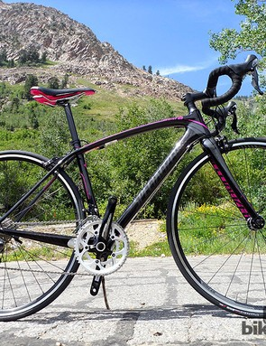 The £1,500 Amira Sport comes with a Shimano 105 drivetrain, DT Swiss 2.0 wheels, carbon seatpost and all-carbon fork it looks to be great value