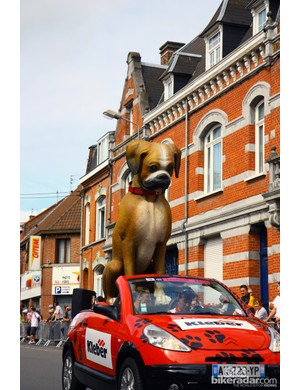 British tire company Kleber has used a boxer as its mascot since 1971.