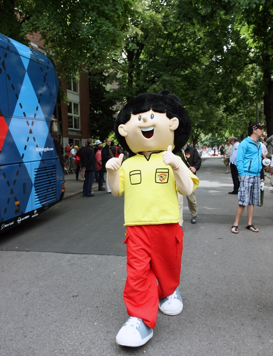 No trip to the Tour de France would be complete without an encounter with the ever-cheerful Haribo mascot.