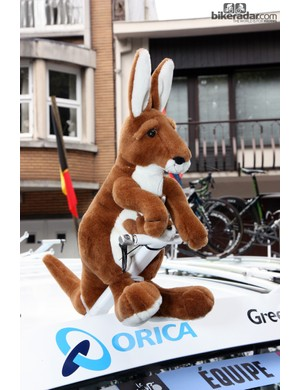 Kangaroos of all shapes and sizes were littered throughout the Tour de France. Australians have certainly come out in force in support of current champion Cadel Evans and the Australia-based Orica-Greenedge team.