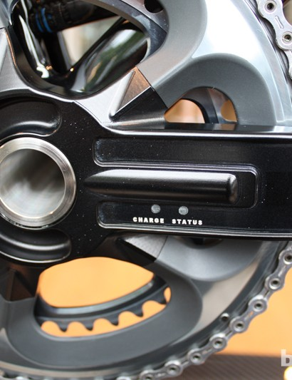The cranks are capable of transmitting torque and power data in real time
