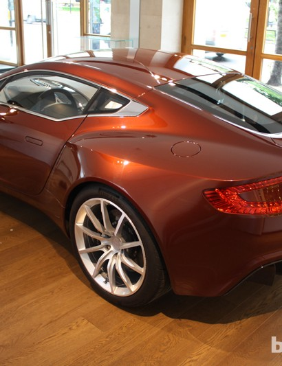 The inspiration behind the bike - The Aston Martin One-77 supercar