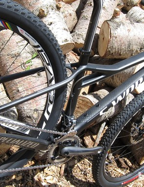 The frame is stiffer and lighter, say Specialized