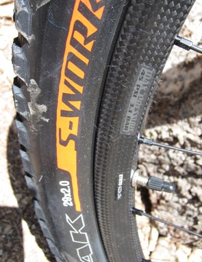 S-Works Fast Trak tires on the Control SL wheelset