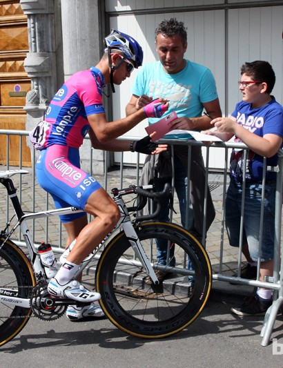 Lampre-ISD is using Wilier Triestina's new Cento 1 SR during this year's Tour de France.