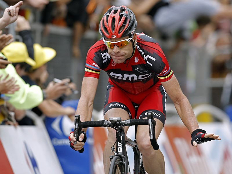 Cadel Evans suffered three punctures