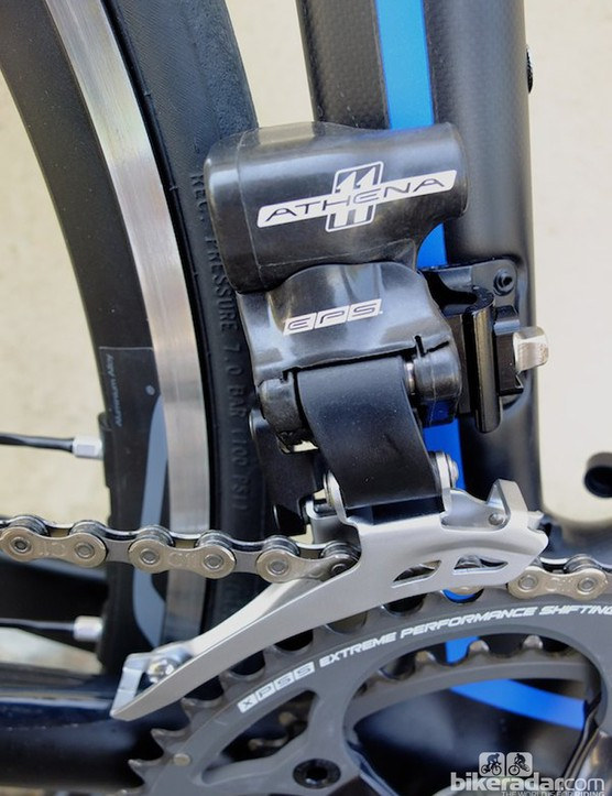 The Athena EPS front derailleur