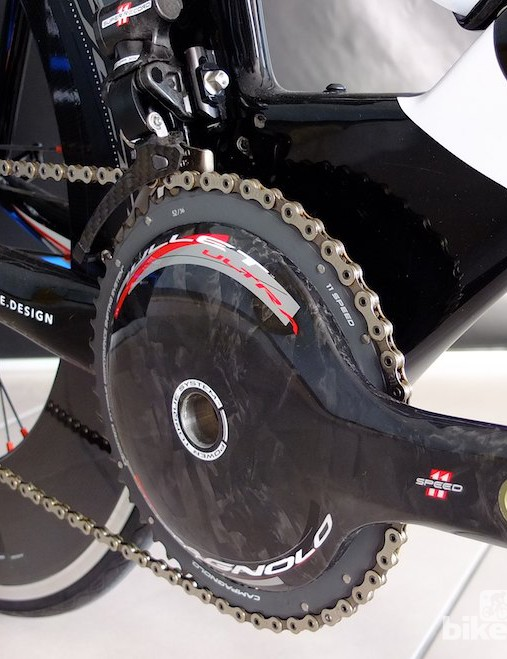 The new Bora Ultra aero carbon chainset