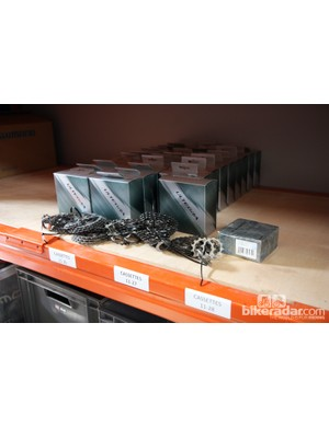 Steel cassettes last longer and are much cheaper in the quantities required by the team