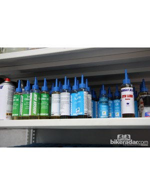 Team sponsor Morgan Blue provide a variety of different chain lubricants