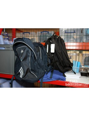 Various backpacks for the team staff