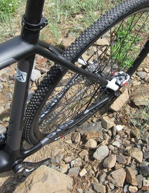 You get great tire clearances on the Disc bike…