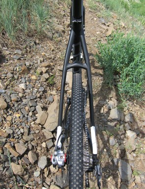 …and massive seat stay clearance