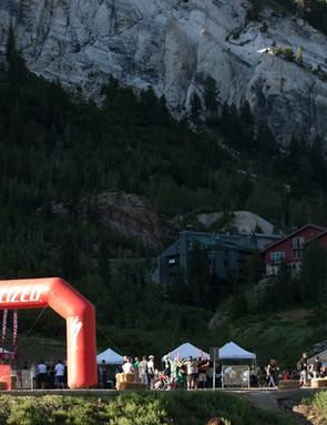 The venue for Specialized's 'Crossbird' cyclo-cross race in Snowbird, Utah