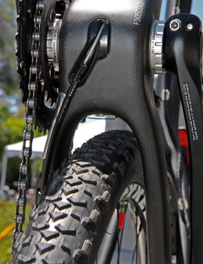 The new Felt Nine carbon frames can supposedly handle tires up to 2.35