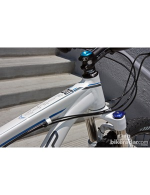 Tapered head tubes are used on the top Felt Nine aluminum frames.
