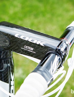 The massive carbon C-Stem is cleverly angle-adjustable without adding weight or reducing stiffness