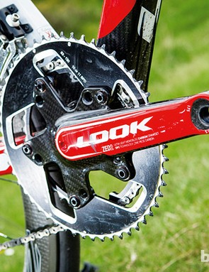 The integrated ZED 2 chainset is super light yet stiff, adjustable and can take compact or full-size chainrings