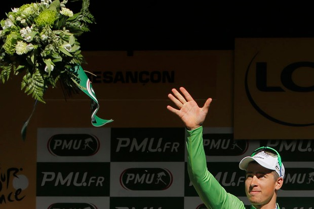 Peter Sagan (Liquigas-Cannondale) could win himself a Porsche if he hangs onto the green jersey in Paris